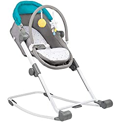 1 product, 4 functions: the compact relax is a baby bouncer, crib, rocker and travel cot. it can be used from birth until your child weighs 9 kg Height-adjustable: this crib bouncer can be adjusted to 4 heights in order to be positioned next to a cof...