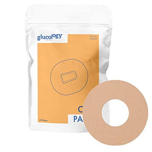 Glucology - Freestyle Libre CGM Pflaster Beige | 25er-Pack | Wasserfestes flexibles Klebepflaster für Diabetes CGM