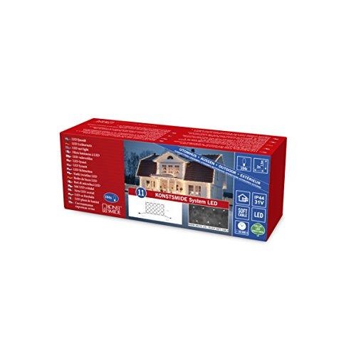 Konstsmide 4813-107 LED Hightech System Erweiterung / Lichternetz / für Außen (IP44) / 100 warm weiße Dioden / schwarzes Softkabe