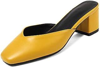 BalaMasa Womens ASL06317 Pu Block Heels
