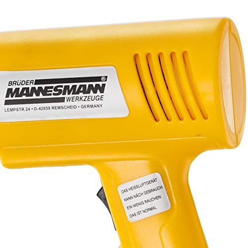 Mannesmann M 49500 - Pistola de aire caliente (2000 W, incluye 4 accesorios)