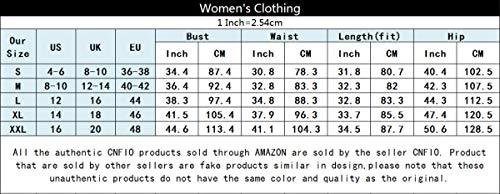 CNFIO Monos Cortos Mujer Verano Vestir Mujer Elegante Petos Mujer Verano Trabajos Pantalones Cortos A-Caqui Claro L