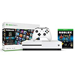 Bundle includes: Xbox One S 1TB Console; one Xbox Wireless Controller; a free-to-play download of Roblox; three exclusive Roblox avatar bundle and accessories; 2, 500 Robux; and month of Xbox Game Pass Ultimate. Enjoy a free-to-play download of Roblo...