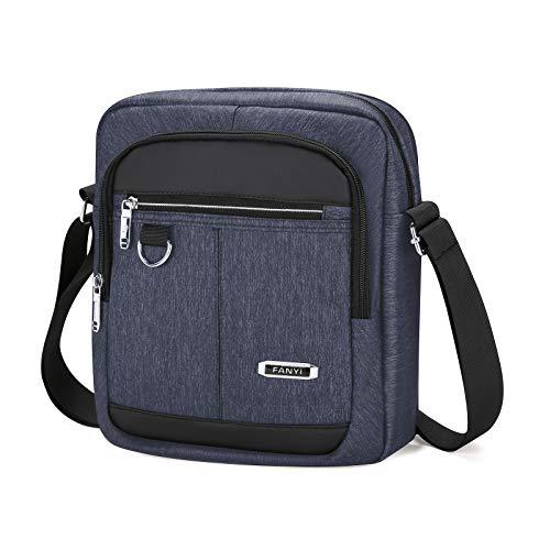 BAIGIO Borsello Uomo Tracolla Sport, Borsa a Tracolla Messenger Bag Impermeabile Borsa a Spalla Casual Lavoro Viaggio per ipad