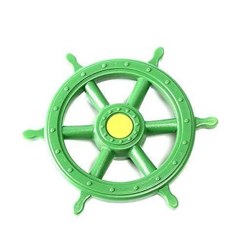 1 Stück h2i Steuerrad Schiffsruder Lenkrad beweglich in Grün für Kinder Spielturm
