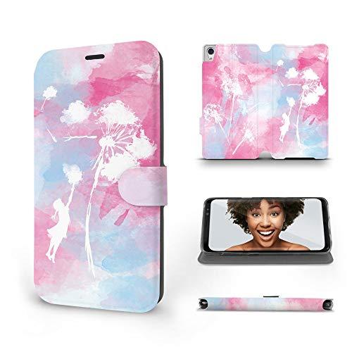 Mobiwear   Slim FLIP Case   Kompatibel mit Sony Xperia Z2, Made in EU handyhülle, Premium Schutzhülle, Transparent TPU Silicon, Book Style Hülle, Tasche - Rosa