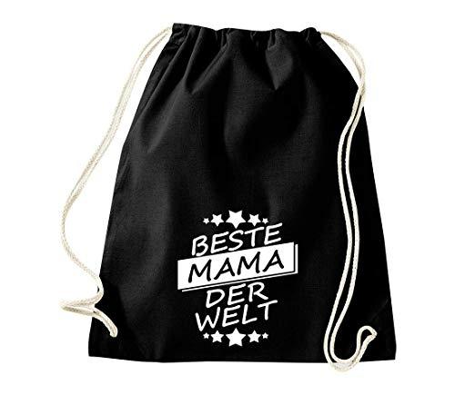 Shirtinstyle - Sacca da Palestra, per Sport, Famiglia, Amici, Idea Regalo, GYMmix2-11313schwarz, Mama, 46 cm x 36 cm