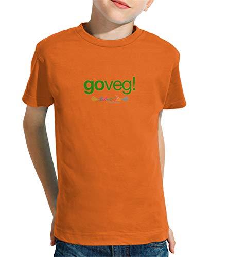 latostadora - Camiseta Goveg para Nino y Nina Naranja M