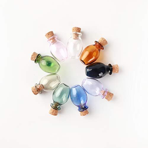 JIUYUE Mini botellas de cristal de color que desean botella de pequeños...