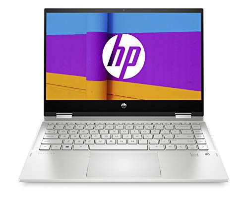"HP Pavilion x360 14-dw0000sf/14-dw0006nf PC Ultraportable Convertible et Tactile 14"" FHD Argent (Intel Core i5, RAM 8 Go, SSD 256 Go, AZERTY, Windows 10)"
