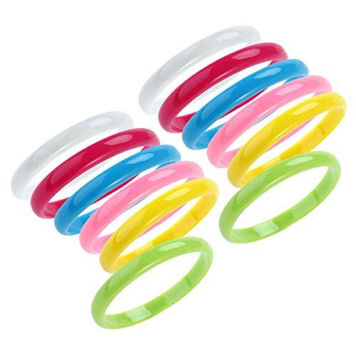 TOYANDONA Pulseras de plástico Pulseras de Color Caramelo de Moda favores de Fiesta para niños 12 Piezas