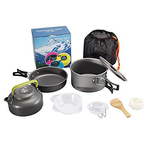 HWYYGL Camping kookgerei kits, Camping kachel + pot, draagbare outdoor rugzak fornuis, outdoor aluminium lichtgewicht camping pot kookplaten, Picnic en Camping