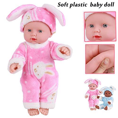 ASDAD LOL Puppe Überraschung Für Mädchen Gummipuppe Spielzeug Für Kinder Bebe Reborn Menina Corpo De Silikon 30 cm Emuliert Blink Puppen,Pink