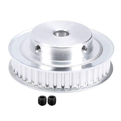 sourcing map - Polea de Aluminio XL de 40 Dientes de 12 mm para cinturón de 10 mm para Impresora 3D CNC