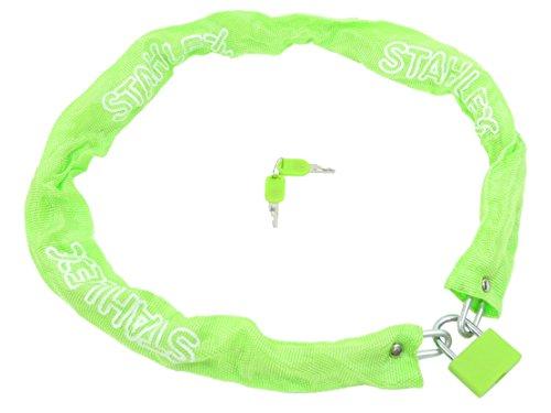 STAHLFLEX fiets kettingslot, met hangslot (groen)
