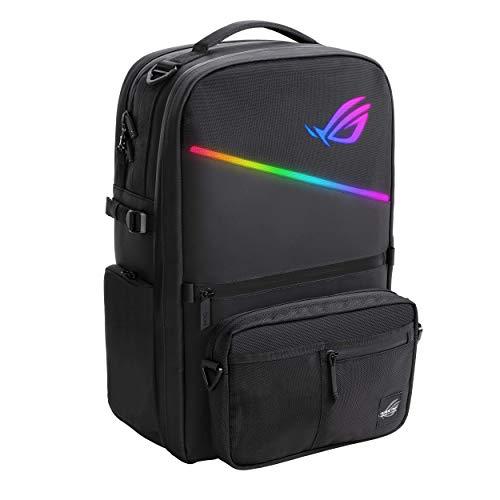ASUS ROG Ranger BP3703 Gaming Rucksack (20 Liter, für Notebooks bis 17 Zoll, Aura-RGB-Beleuchtung, wasserabweisend, modulare Fronttasche)