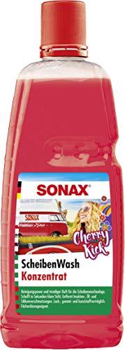 SONAX ScheibenWash Konzentrat Cherry Kick (1 l) Sommerrreinigungskonzentrat für die Scheiben- und Scheinwerferwaschanlage   Art-Nr. 03923000