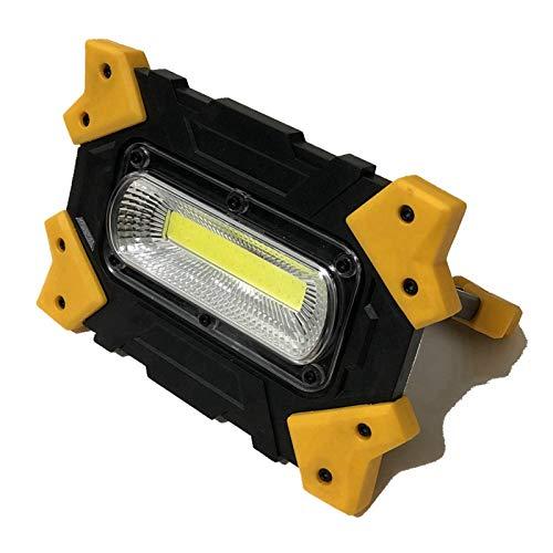 Changskj Suchscheinwerfer Tragbare Flutlicht USB aufladbare 18650 Lithium leistungsstarke 10W COB Scheinwerfer Arbeitsscheinwerfer Auto (Emitting Color : Rechargeable 1)