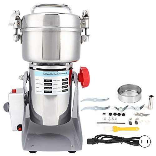 Electric Grinder, Stainless Steel Blades Electric Coffee Mill, High‑Speed Motor Spices for Home Gifts Kitchen(British Flag Type)