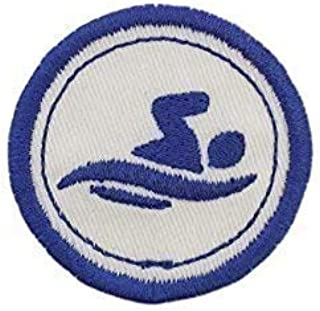 "Merit Badge Patch- 2"" Iron On Swimming Patch"