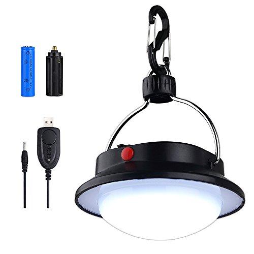 PROZOR Luce da Campeggio Lampada da Lanterna LED Portatile con Batteria Ricaricabile e con USB Cavo-Luce Notturna 60LED da Tenda Esterno Interno per Campeggio Escursione Pesca e Situazione d'Emergenza