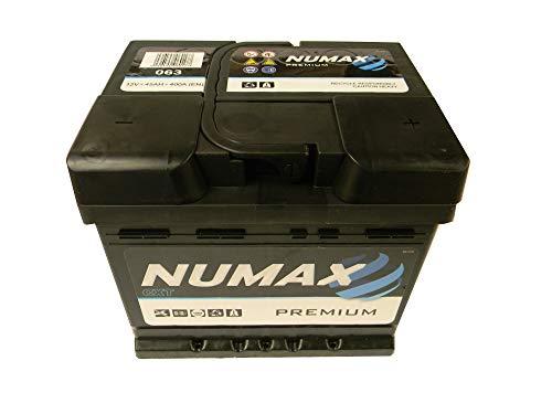 Numax Batterie Voitures Premium 063 LB1 12V 45AH 400 AMPS (EN)