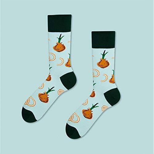 Lustige Socken,Männer Und Frauen Socken Zwiebel Muster Modedesign Bunt Glücklich Business Party Kleid Baumwollsocken Kawaii Modischer Komfort Glücklich Personalisiert(3pcs)