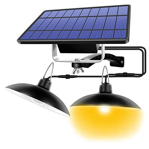 Luz Solar Colgante Exterior, Solar Proyectores con Remote Control IP65 Impermeable 180° Ajustable LED Jardín Lámpara de Cobertizo de Araña para Acampar, Jardín, Decoración Del Hogar (Color : Black)