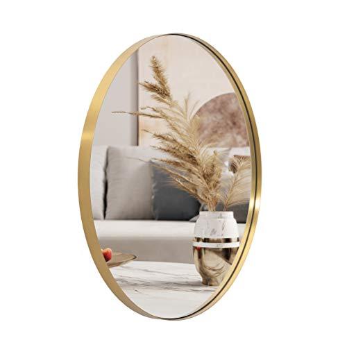 ANDY STAR Oval Wall Mirror | 22x30'' Modern Gold Bathroom Mirror with -