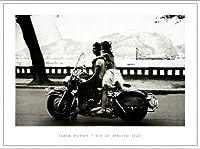 ポスター フランク ホーヴァット Couple on Harley Rio de Janeiro 1963 額装品 アルミ製ベーシックフレーム
