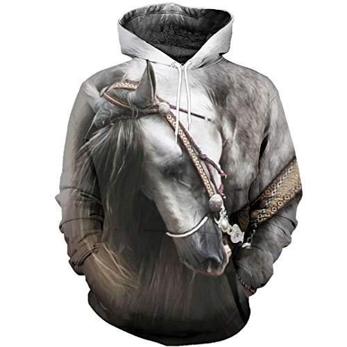 Love Horse Animal Chándal Sudadera con Estampado 3D Hombres Mujeres Casual Harajuku Sudadera Colorida Chaqueta Hoodies XS