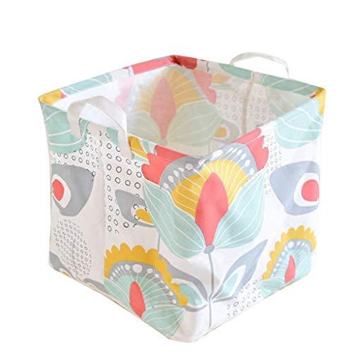 XXLYY Caja organizadora multifunción de almacenamiento de desechos de escritorio, impermeable, con revestimiento de polietileno, cesta de juguetes, caja de almacenamiento plegable (B)