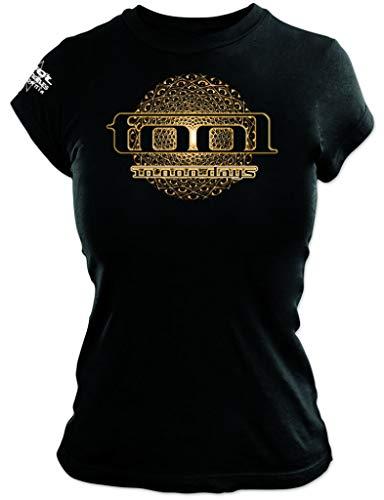 Tool 'Eye Geo Glow' (Black) Womens Fitted T-Shirt (x-Large)