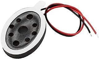 DealMux 2pcs 20 x 14 x 4 mm oval 8 Ohm 1W doble alambre Mini Audio Mediant altavoces est/éreo para navegador GPS
