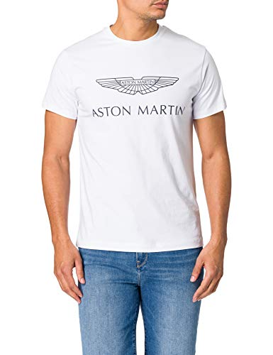 Hackett London AMR Logo tee Camiseta, 800 Blanco, S para Hombre