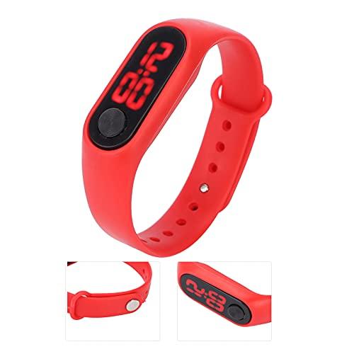SHYEKYO Reloj electrónico, cómodo, Ligero, fiable, Resistente al Agua, Resistente al Agua, Alta sensibilidad para el Tiempo del Reloj(Red)