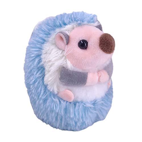 10 cm adorable erizo de Pascua enano muñeca de felpa juguetes de peluche lindo animal relleno almohada suave cojín para decoración del hogar del coche cumpleaños azul