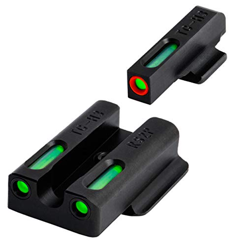 TRUGLO TFX Pro Tritium and Fiber Optic Xtreme Handgun Sights for Ruger Pistols, Black, One Size
