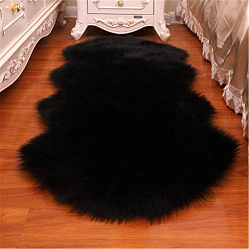 Alfombras mullidas de vellón sintético de piel Ultra suave mullido Alfombras Alfombra de piel falsa cubierta de la silla del asiento del cojín Fuzzy manta de área de piso dormitorio sofá de la sala