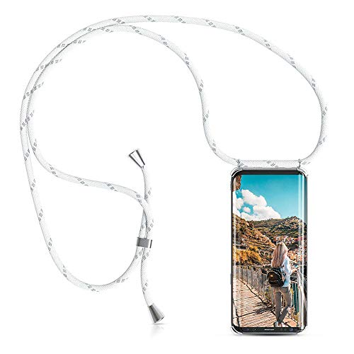 XCYYOO Handykette Handyhülle mit Band Kompatibel für Samsung Galaxy S7 Edge - Handy-Kette Handy Hülle mit Kordel zum Umhängen Handyanhänger Halsband Lanyard Case/Handy Band Halsband Necklace