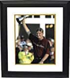 Authentic Autographed Ernie Els PGA 11x14 Photo Custom Deluxe Framed Trophy at 2002 Open Championship ~ Certified
