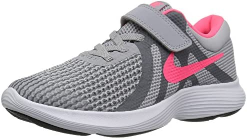 Nike Girls Revolution 4 PSV Running Shoe Wolf Grey Racer Pink Cool Grey White 1Y Child US Little product image
