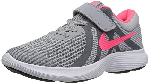 Nike Girl's Revolution 4 (PSV) Running Shoe, Wolf Grey/Racer Pink-Cool Grey-White, 13.5C Child US Little Kid