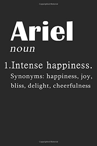 Ariel Definition Personalized Name: Ariel Notebook | Ariel Journal | Diary And Logbook Gift | To Do Lists | Outfit Planner | Gift For Lovers - Girlfriend - Boyfriend | 6x9 inches | 110 pages