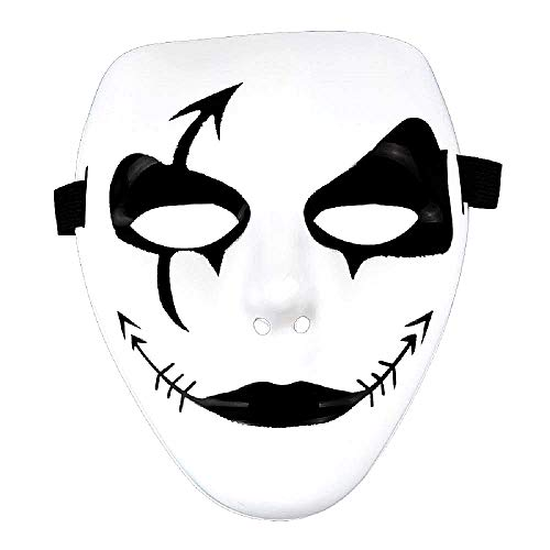 Jabbawockeez Maske - Hip Hop - Street Dance - Gespenst - Kuss - Joker - Pierrot - Weiß - Kostüm - Karneval - Halloween - Accessoires - Mann - Frau - Geschenkidee Weihnachten Geburtstag - Modell 1