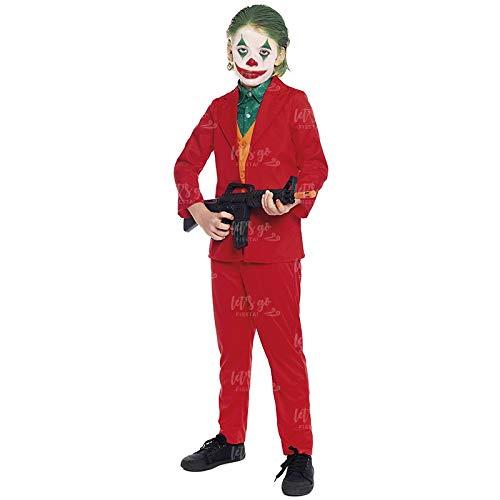 Disfraz Mad Clown Joker Niño Cine y TV (Talla 10-12 años) (+ Tallas)