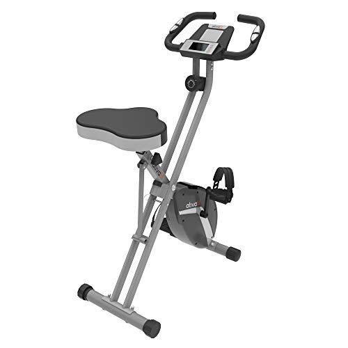Ativaift Heimtrainer X- BIKE mit großem Sitz, klappbares Fitnessbike, Fitnessfahrrad, Fahrradtrainer für Zuhause, Hometrainer mit 8-stufig einstellbarem Magnetwiderstand und bequemem Sitz