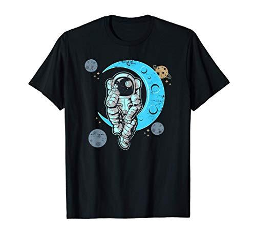 Mond Weltraum Geschenk Space Astronauten T-Shirt