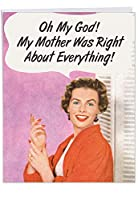 ヴィンテージ母は右誕生日面白いカード 1 Jumbo Birthday Card & Enve. (J5588BDG)