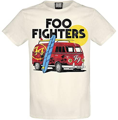Foo Fighters Amplified Collection - Camper Van Uomo T-Shirt Panna XL 100% Cotone Regular